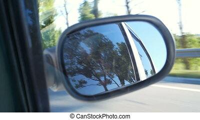 Road mirror car window
