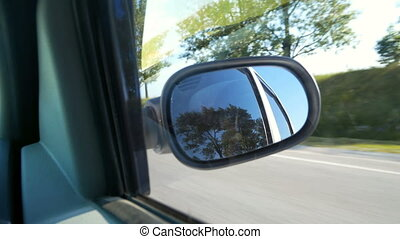 Road mirror car window