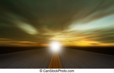 Horizontal Motion Blur Summer Road Background Hd
