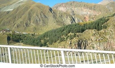 Road mountains village car - Car mountain country village...
