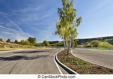Road near the town of Razgrad