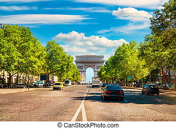 Road of Champs Elysee