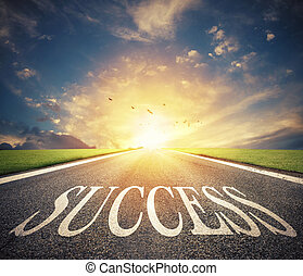 Road of the success. The way for new business opportunities
