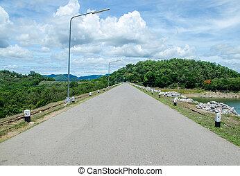 Road on dam