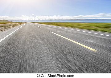 road on grassland