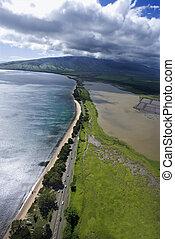 Road on Maui coast.