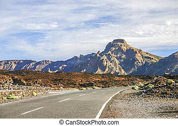 Road on Tenerife island