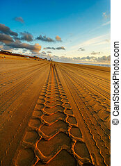 road on the beach