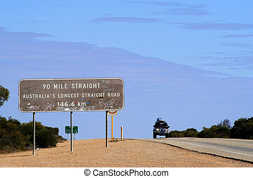 road panel in Australia