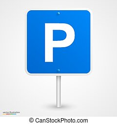 Road parking sign