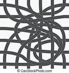 Road patterns for making seamless