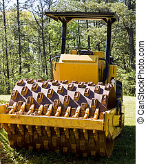 Road Paving Equipment in Forest