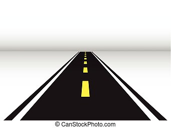 Road perspective vector illustration.