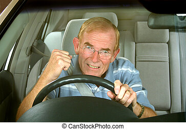 Road Rage 3 - Middle aged man loses it in a road rage...
