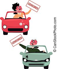 Road rage characters