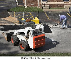 Road Repair 2 - City crews working on street repair patching...