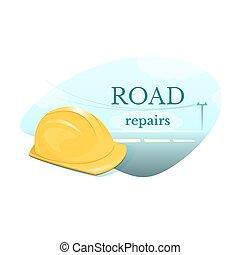 Road repair concept design vector illustration