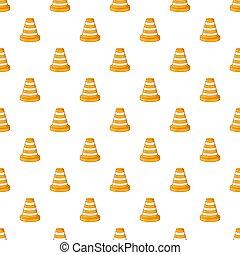 Road repair sign pattern, cartoon style