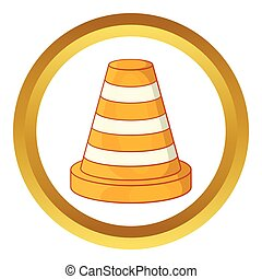 Road repair sign vector icon