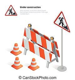 Road repair, under construction road sign, Repairs,...