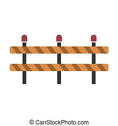 Road repair. Under construction sign on white background. Vector illustration in trendy flat style. EPS 10.