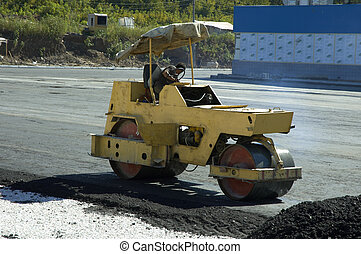 road-roller on the work