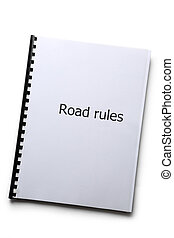 Road rules register on white