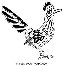 Road Runner. Spirit Animal. Greater roadrunner. Geococcyx californianus