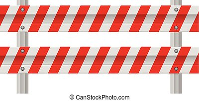Road safety barrier on a white background.