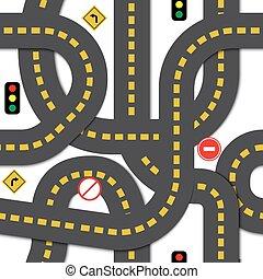 Road seamless pattern