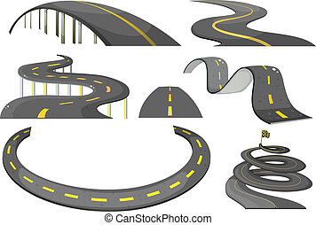 Road set - Illustration of a set of roads