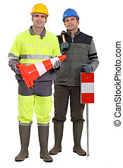 Road-side workers