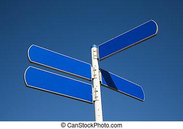 Road sign 1 - Blude road sign
