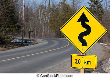 Road Sign 2 - North American Road Sign