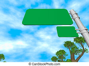 road sign 3d illustration