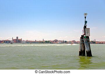 water way in Venetian Lagoon