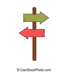 road sign arrow