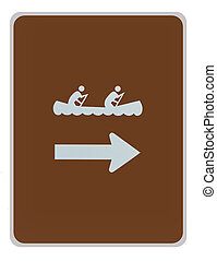 road sign - canoeing