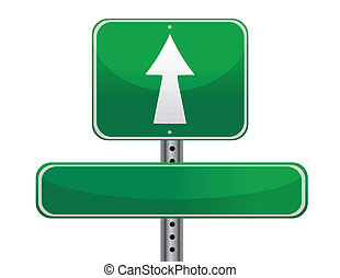 Road sign concept - street sign concept, empty to be ...