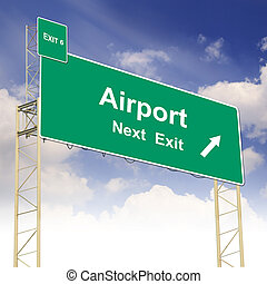 Road sign concept with the text Airport