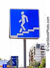 """road sign """"crosswalk"""""""