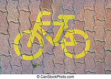 Road sign for bikes