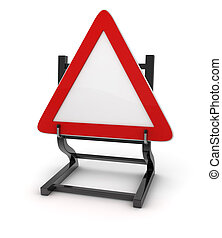 Road sign - Give way , This is a computer generated and 3d...