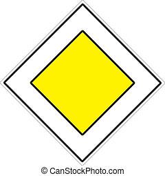 """Road sign """"Glavnaya Road"""""""