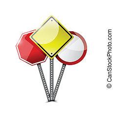 road sign graphic element. illustration design