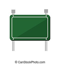 road sign green icon vector