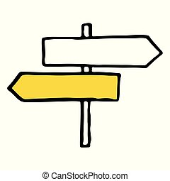 Road sign hand drawn outline doodle icon