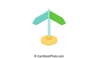 Road sign icon animation - Road sign animation of cartoon ...