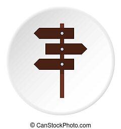 Road sign icon circle