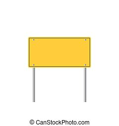 Road sign icon. Flat design